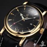 Ceas Original ORKINA, Quartz, Curea Piele, Quartz, Data, Barbatesc, Foarte Elegant - Model NR 6 - Ceas barbatesc, Inox