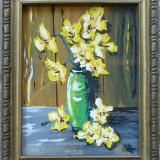 Olah Andras - Vaza cu flori galbene - Pictor roman