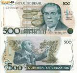 BRAZILIA 500 cruzados 1987 UNC!!!