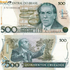BRAZILIA 500 cruzados 1987 UNC!!! - bancnota america