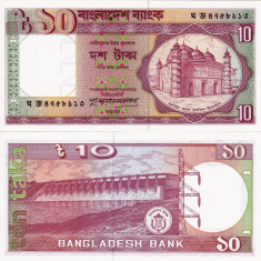 BANGLADESH 10 taka 1982 UNC!!! - bancnota asia
