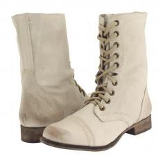 Boots femei 345 Steve Madden Troopa | 100% originali | Livrare cca 10 zile lucratoare | Aducem pe comanda orice produs din SUA - Gheata dama Steve Madden, Alb