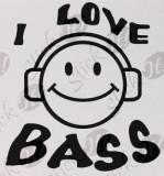 I Love Bass_Sticker Auto_Tuning_CSTA-087-Dimensiune: 15 cm. X 14.2 cm. - Orice culoare, Orice dimensiune