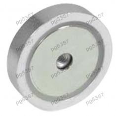 Magnet fix, neodim, 40x8mm, fixare cu surub, Elesa+Ganter - 050581