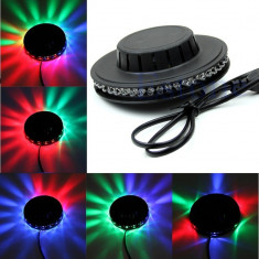 OFERTA UNICA ! SET 4 LUMINI DISCO CU LEDURI SUNFLOWER OZN LED,MULTICOLORE,EFECT LUMINOS SENZATIONAL!