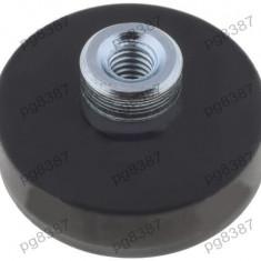 Magnet fix, neodim, 22x6mm, fixare cu surub, invelis cauciucat, Elesa+Ganter - 050584