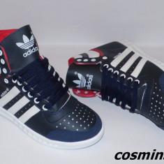 Ghete ADIDAS SLEECK Model NOU de Sezon - Bleumarin / Negru !!! - Ghete barbati Adidas, Marime: 43, Piele sintetica