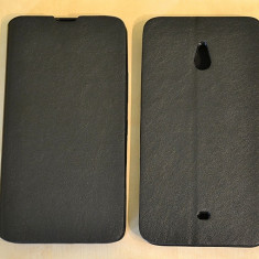 Husa Nokia Lumia 1320 Flip Case Slim Black - Husa Telefon Nokia, Negru, Piele Ecologica, Cu clapeta, Toc