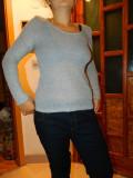 Pulover usor transparent, bluza de dama, marimea S, culoare gri, moderna, Vascoza