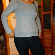 Pulover usor transparent, bluza de dama, marimea S, culoare gri, moderna