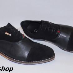 Pantofi GUCCI 100% Piele Naturala cu Piele Intoarsa - Model NOU de Sezon !!! - Pantof barbat Gucci, Marime: 42, 44, Culoare: Negru