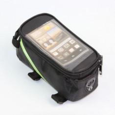 Port bagaj spatiu depozitare suport telefon borseta pentru bicicleta verde gri - Accesoriu Bicicleta, Borsete bicicleta