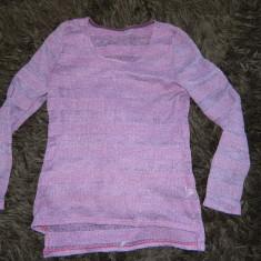 Bluza, bluzita, pulover pentru dama, femei, marimea S, usor transparenta, Mov, Vascoza