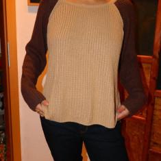 Pulover, bluza tricotata pentru femei, fete, marca Bershka, marimea XL, moderna - Pulover dama Bershka, Marime: L, Culoare: Maro