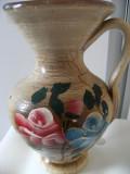 Deosebita ulcica veche, pictata manual, mare,motive florale, cromatica deosebita, provenienta Franta, de colectie/decor.