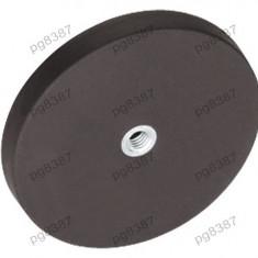 Magnet fix, neodim, 66x8, 5mm, fixare cu surub, invelis cauciucat, Elesa+Ganter - 050600