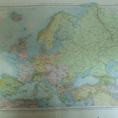 Harta politica a Europei color Leipzig 1899 - Harta Europei
