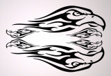 Ornament Vulturi_Sticker Auto_Moto_MDEC-022-Dimensiune: 20 cm. X 13.2 cm. - Orice culoare, Orice dimensiune