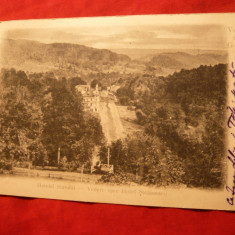 Ilustrata clasica Govora - Vedere spre Hotel Stefanescu, circ. 1903 - Carte Postala Oltenia pana la 1904