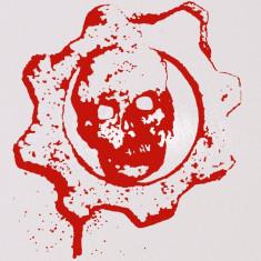Skull_Stickere Diverse_Perete_Auto_DIV-106-Dimensiune: 15 cm. X 13.5 cm. - Orice culoare, Orice dimensiune