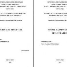 LUCRARE DE LICENTA A.M.F. - FORME FARMACEUTICE HOMEOPATICE - Carte Farmacologie