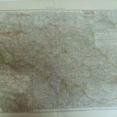 Harta color Germania Silezia Schlezien Leipzig 1899