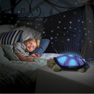 Lampa veghe copii Proiector de tavan broscuta testoasa cu stelute si muzica