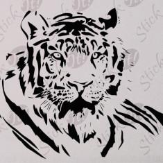 Tiger_Tatuaj De Perete_Sticker Decorativ_WALL-055-Dimensiune: 35 cm. X 23.8 cm. - Orice culoare, Orice dimensiune