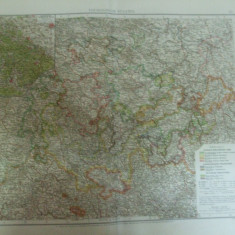 Harta color Germania Statele Turingiei Thuringische Staaten Leipzig 1899