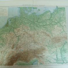 Harta fizica a Germaniei Leipzig 1899 - Harta Germaniei