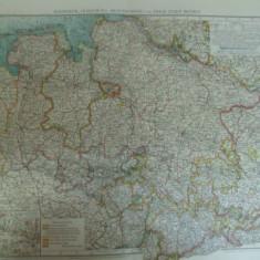 Harta color Germania Hannover Oldenburg Braunschweig si Bremen Leipzig 1899