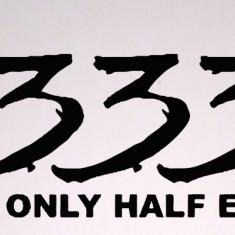 333 Only Half Evil_Stickere Diverse_Perete_Auto Cod: DIV-108 - Orice culoare, Orice model pe comanda