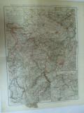 Harta color Germania Renania Westfalia Lippe si marele ducat al Luxemburgului Leipzig 1899