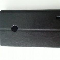 Husa toc flip alb Nokia Lumia 520 + folie ecran + expediere gratuita Posta - sell by PHONICA - Husa Telefon Nokia, Negru, Piele Ecologica