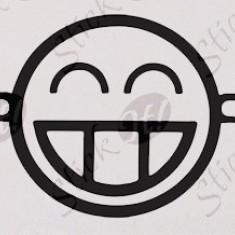 Smiley_Stickere Diverse_Perete_Auto_DIV-059-Dimensiune: 15 cm. X 7.5 cm. - Orice culoare, Orice dimensiune