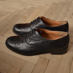 Pantofi ZARA piele naturala - Pantof dama Zara, Culoare: Negru, Marime: 38, Negru