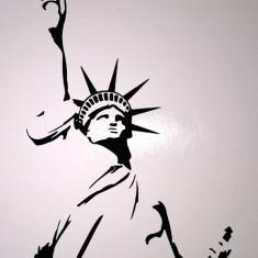 Statue Of Liberty_Tatuaj De Perete_Sticker Decorativ_WALL-005-Dimensiune: 40 cm. X 24 cm. - Orice culoare, Orice dimensiune