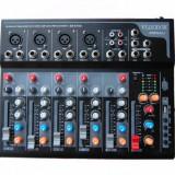 NOU ! MIXER PROFESIONAL 6 CANALE CU MP3 PLAYER USB INCORPORAT, SUNET HI FI. - Mixere DJ