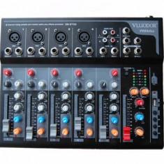 NOU ! MIXER PROFESIONAL 6 CANALE CU MP3 PLAYER USB INCORPORAT,SUNET HI FI.