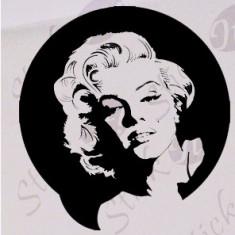 Merilyn Monroe_Tatuaj De Perete_Sticker Decorativ_WALL-022-Dimensiune: 35 cm. X 33.6 cm. - Orice culoare, Orice dimensiune