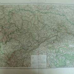 Harta color Germania Regatul Saxoniei Konigreich Sachsen Leipzig 1899