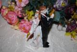 "Marturii nunta - Figurina tort nunta ""Model Mr & Miss Smith  marturie figurine"