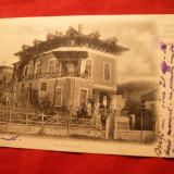 Ilustrata clasica Govora - Vila Beresteanu, circ. 1903 cu 5 Bani Spic de Grau
