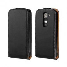 Husa Flip Case Slim Inchidere Magnetica LG G2 Mini D620 Black - Husa Telefon LG, Negru, Piele Ecologica, Cu clapeta, Toc