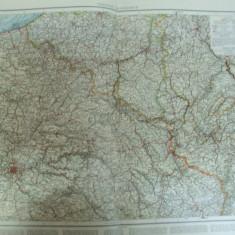 Harta color Franta partea de nord - est   Leipzig 1899