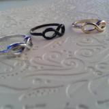 Inel One Direction, auriu, argintiu, negru, 41 - 45