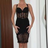 Rochita neagra scurta BBY - Rochie de seara, Marime: 36, Culoare: Negru, Fara maneca
