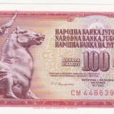 Bnk bn iugoslavia 100 dinari 1986 necirculata