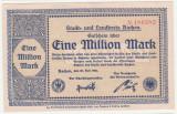 (8) BANCNOTA (NOTGELD) - GERMANIA - AACHEN - 1.000.000 MARK 1923 (20 IULIE 1923) , STARE FOARTE BUNA