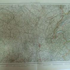 Harta color Franta partea de est   Leipzig 1899